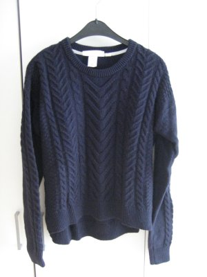 H&M L.O.G.G. Cable Sweater dark blue