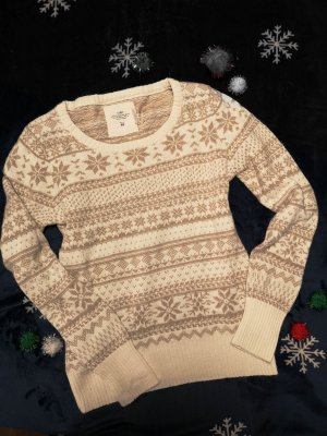 H&M L.O.G.G. Norwegian Sweater natural white cotton