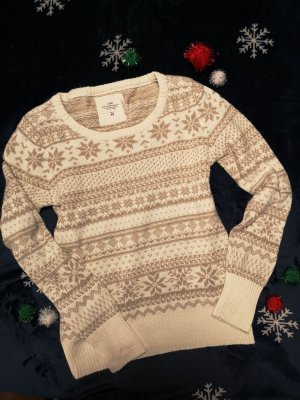 H&M L.O.G.G. Pullover – Norweger-Muster (beige, cremeweiß)