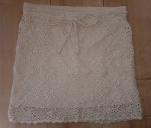 H&M L.O.G.G. Knitted Skirt gold-colored cotton