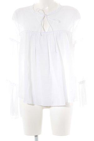 H&M L.O.G.G. Rüschen-Bluse weiß Elegant