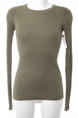 H&M L.O.G.G. Kraagloze sweater khaki casual uitstraling