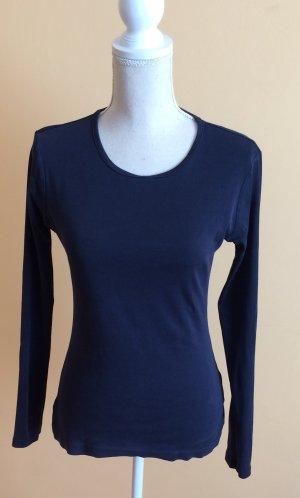 H&M l.o.g.g. Shirt Langarmshirt dunkelblau blau Größe M
