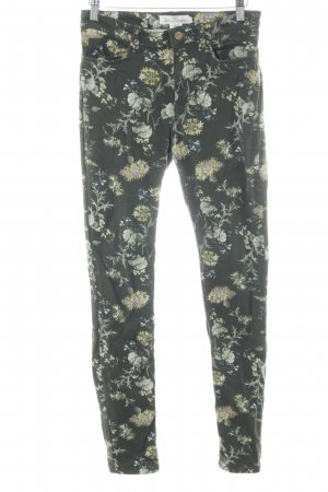 H&M L.O.G.G. Skinny Jeans Blumenmuster Casual-Look
