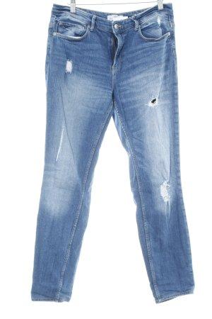 H&M L.O.G.G. Slim Jeans stahlblau Casual-Look
