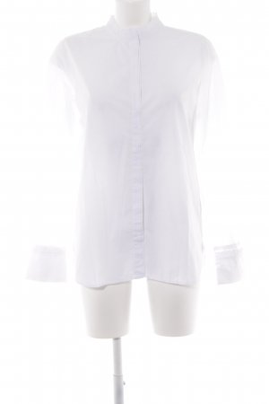 H&M L.O.G.G. Stand-Up Collar Blouse white Paris-Look