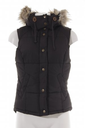 H&M L.O.G.G. Quilted Gilet anthracite casual look