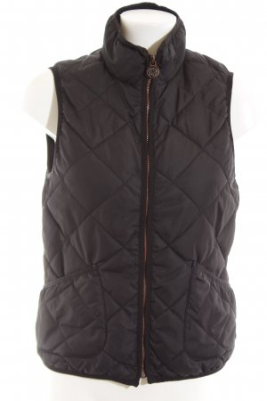 H&M L.O.G.G. Quilted Gilet black quilting pattern casual look