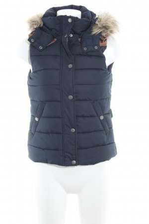 H&M L.O.G.G. Quilted Gilet dark blue-light brown casual look