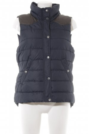 H&M L.O.G.G. Gewatteerd vest donkerbruin-donkerblauw casual uitstraling