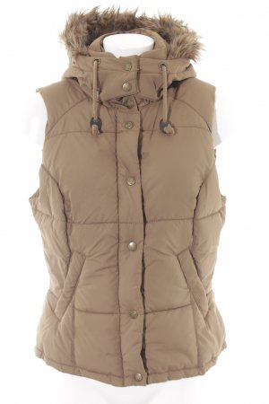 H&M L.O.G.G. Quilted Gilet light brown casual look