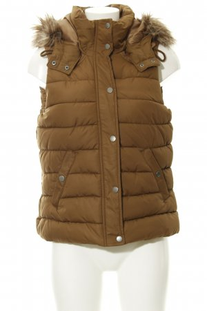 H&M L.O.G.G. Quilted Gilet light brown quilting pattern casual look