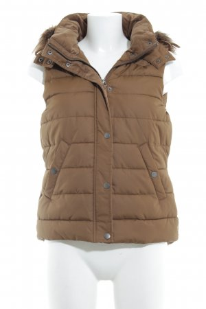 H&M L.O.G.G. Quilted Gilet ocher-brown casual look