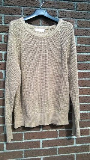 H&M L.O.G.G. Strick: hellbrauner Pullover in Größe L