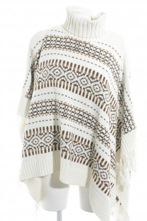 H&M L.O.G.G. Strickponcho abstraktes Muster Casual-Look