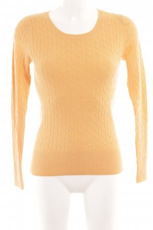 H&M L.O.G.G. Strickpullover hellorange Zopfmuster Casual-Look