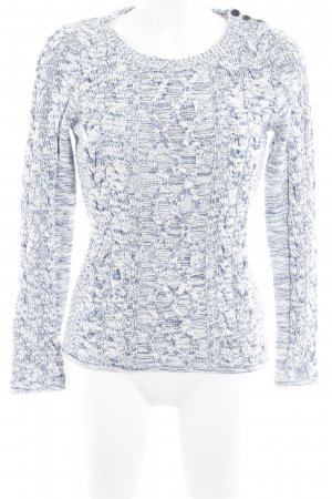 H&M L.O.G.G. Strickpullover weiß-dunkelblau meliert Casual-Look