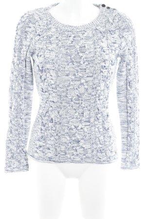 H&M L.O.G.G. Gebreide trui wit-donkerblauw gestippeld casual uitstraling