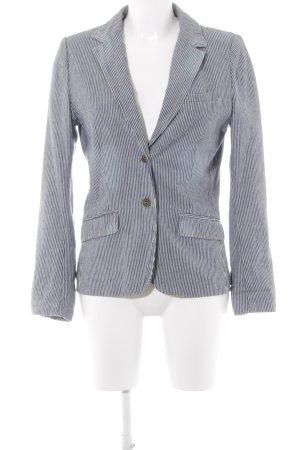 H&M L.O.G.G. Sweatblazer graublau-weiß Streifenmuster Business-Look