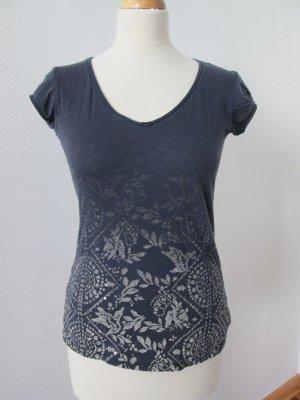 H&M L.O.G.G. T-Shirt slate-gray-white cotton