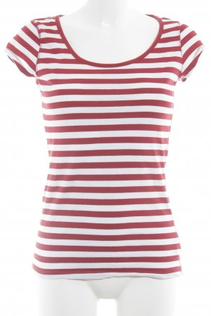 H&M L.O.G.G. T-Shirt weiß-rot Streifenmuster Casual-Look