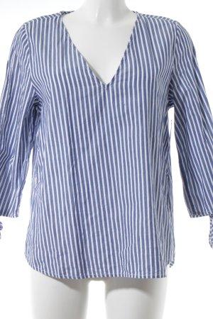 H&M L.O.G.G. Tunikabluse blau-weiß Streifenmuster Casual-Look