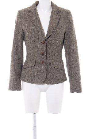 H&M L.O.G.G. Tweedblazer graubraun-dunkelbraun Zackenmuster Business-Look