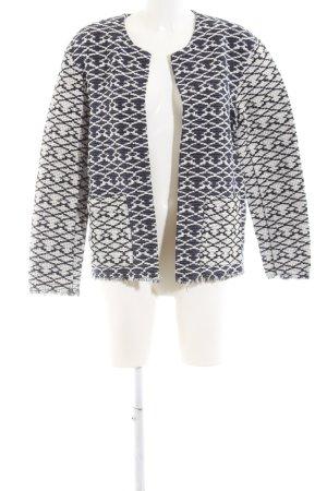 H&M L.O.G.G. Tweed Blazer white-black allover print elegant