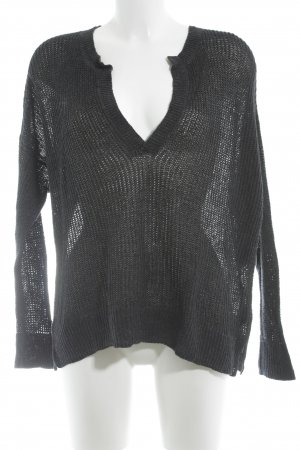 H&M L.O.G.G. V-Neck Sweater dark blue casual look