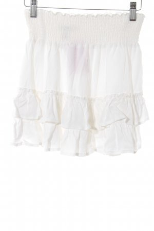 H&M L.O.G.G. Flounce Skirt white casual look