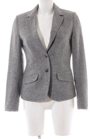 H&M L.O.G.G. Blazer en laine gris-blanc cassé motif à chevrons