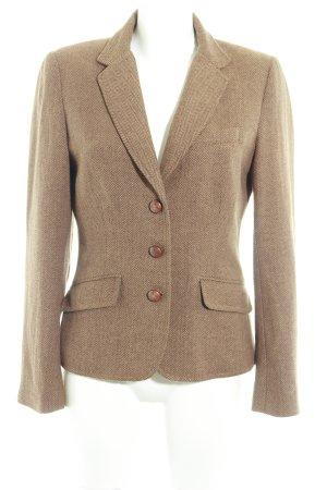 H&M L.O.G.G. Wool Blazer light brown-brown herringbone pattern dandy style