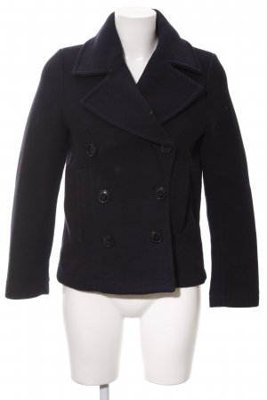H&M L.O.G.G. Wollen Jack donkerblauw casual uitstraling