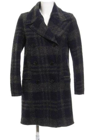 H&M L.O.G.G. Abrigo de lana gris oscuro-azul oscuro estampado a cuadros