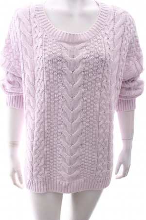 H&M L.O.G.G. Cable Sweater light pink fluffy