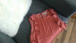 H&M Lachsfarbene Bluse mit Rüschen, ärmellos
