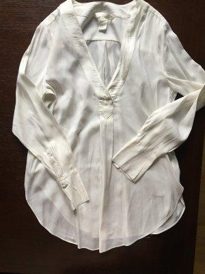 H&M Glanzende blouse wolwit