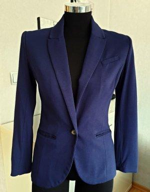 H&M Lässig und Elegant Business Jersey Blazer Stretch Tailliert blau 34