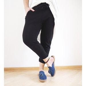 H&M lässige Jogg-Pant schwarz M 38 40 Jogger Jogginghose Haremshose tiefer Schritt Sweat pants