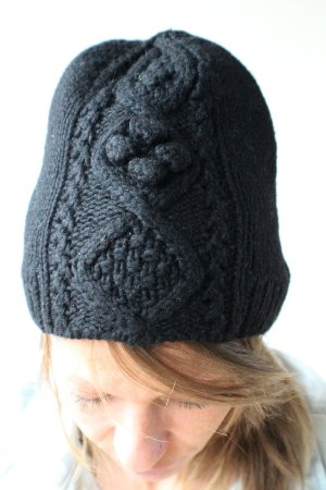 H&M Knitted Hat black wool
