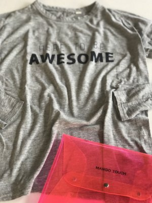 """H&M langärmeliges Shirt """"awesome"""" Rugby 38/40"""