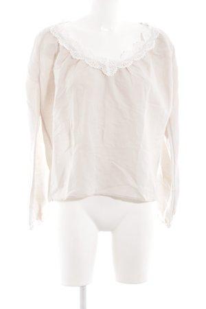 H&M Langarm-Bluse wollweiß-weiß Casual-Look