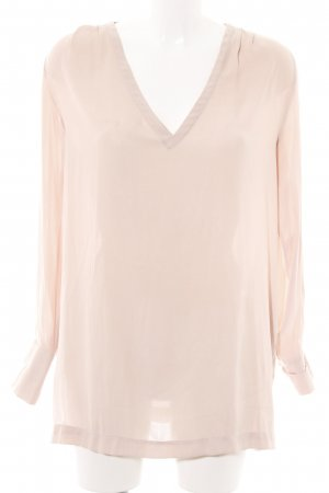 H&M Langarm-Bluse pink Allover-Druck Business-Look