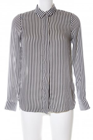 H&M Long Sleeve Blouse black-white striped pattern business style