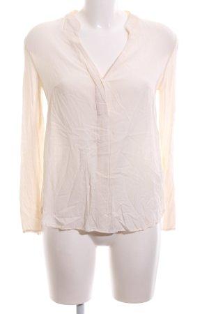 H&M Langarm-Bluse creme Business-Look