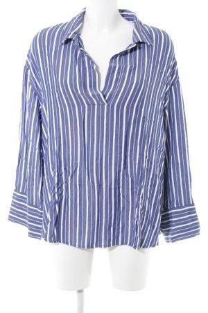 H&M Langarm-Bluse blau-weiß Streifenmuster Casual-Look
