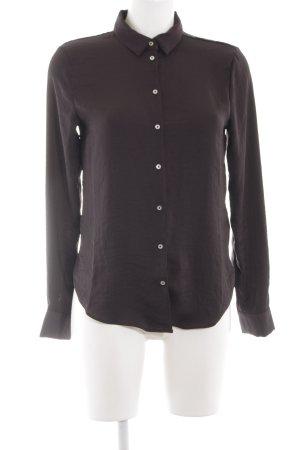 H&M Blouse met lange mouwen zwart casual uitstraling