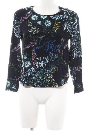 H&M Langarm-Bluse Allover-Druck Street-Fashion-Look