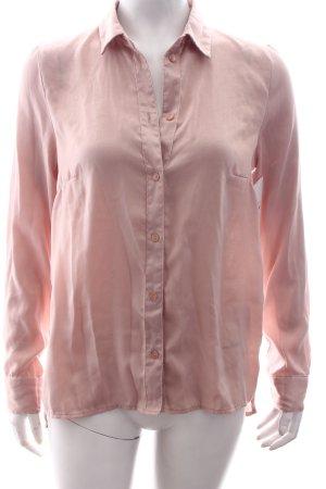 H&M Langarm-Bluse altrosa schlichter Stil