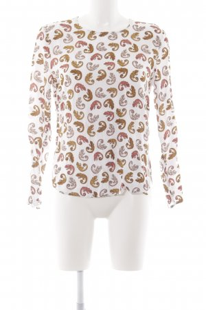 H&M Langarm-Bluse Animalmuster Casual-Look